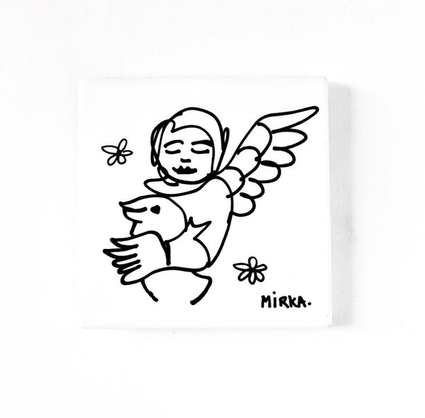 Mirka Mora Angel Single Coaster <br> Untitled 3