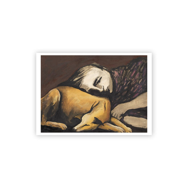 Joy Hester Girl with Dog Postcard