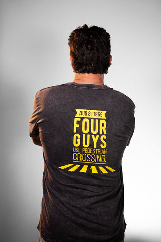 NEW: FOUR GUYS USE PEDESTRIAN CROSSING STONE WASHED T-SHIRT