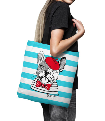 Bonjour Frenchie Series Tote Bag