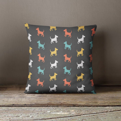 Bull Terrier Color Series Pillow