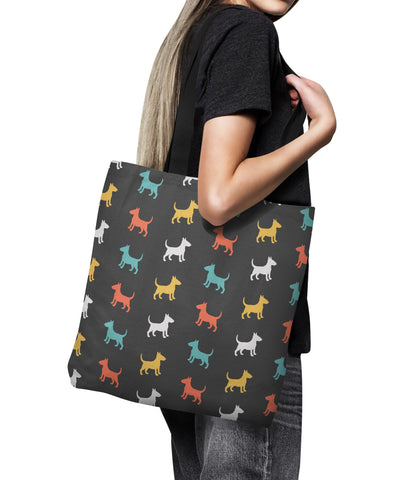 Bull Terrier Color Series Tote Bag