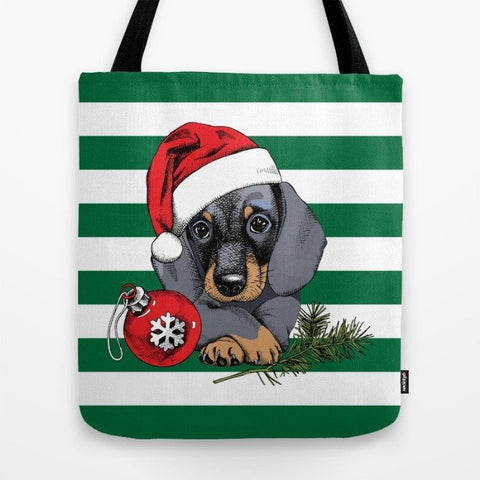 Dachshund Christmas Series Tote Bag