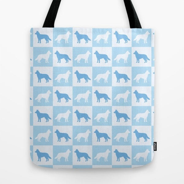 Husky Check Series Tote Bag (Blue)