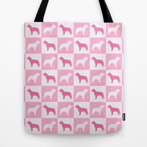 Pit Bull Check Series Tote Bag (Pink)