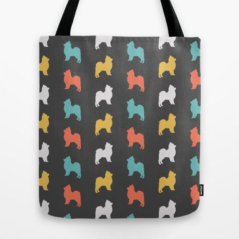 Pomeranian Color Series Tote Bag