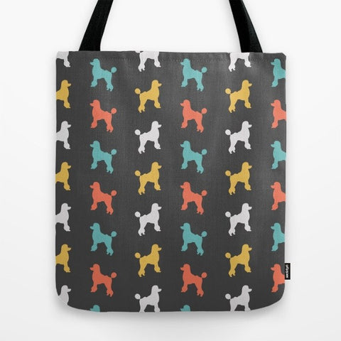 Poodle Color Series Tote Bag