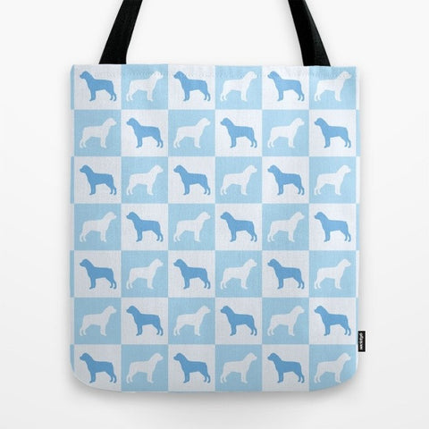 Rottweiler Check Series Tote Bag (Blue)