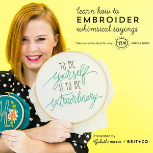 Introducing: Online Hand Embroidery 101 Class with Brit & Co