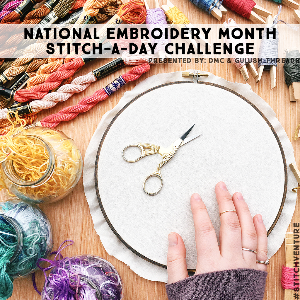 STITCH-A-DAY CHALLENGE // NATIONAL EMBROIDERY MONTH