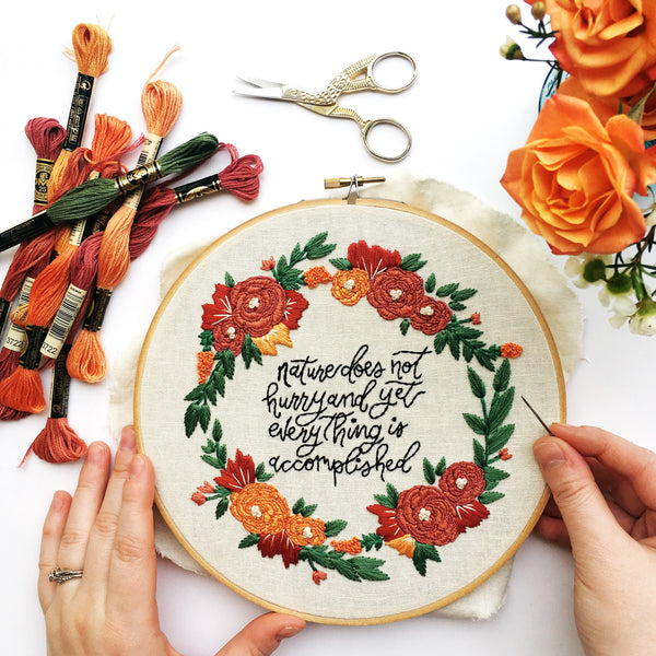 APRIL #STITCHVENTURE PATTERN OF THE MONTH // RED LETTERED GOODS