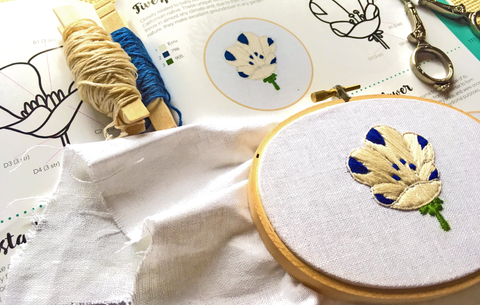 book preview 200 embroidered flowers