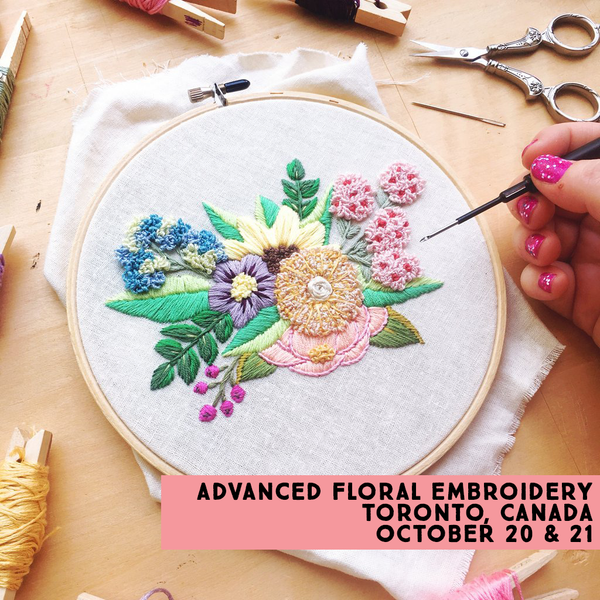 Advanced Floral Hand Embroidery with Bookhou :: 10/20 & 10/21