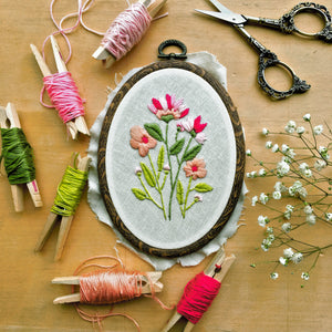 Coraline Petals . Hand Embroidery Kit (+PDF DOWNLOAD)