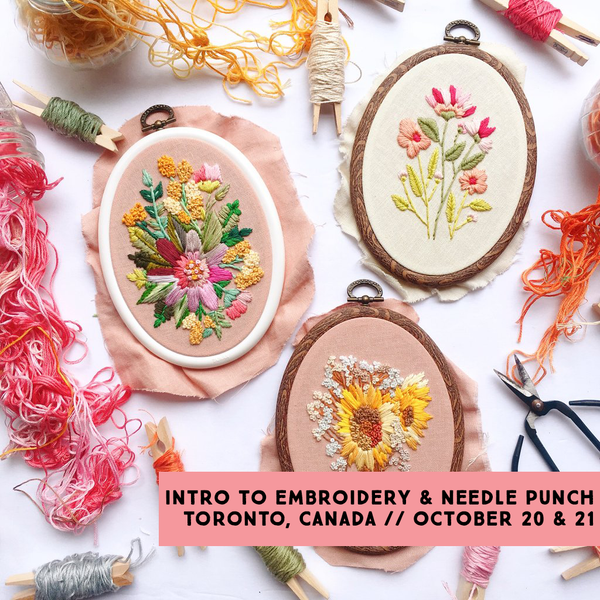 Beginner Hand Embroidery & Needle Punch Workshop with Bookhou :: 10/20 & 10/21