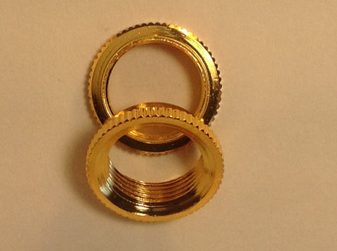 Fine Shouldered Deep Toggle Switch Nut Gold For Switchcraft Made in USA