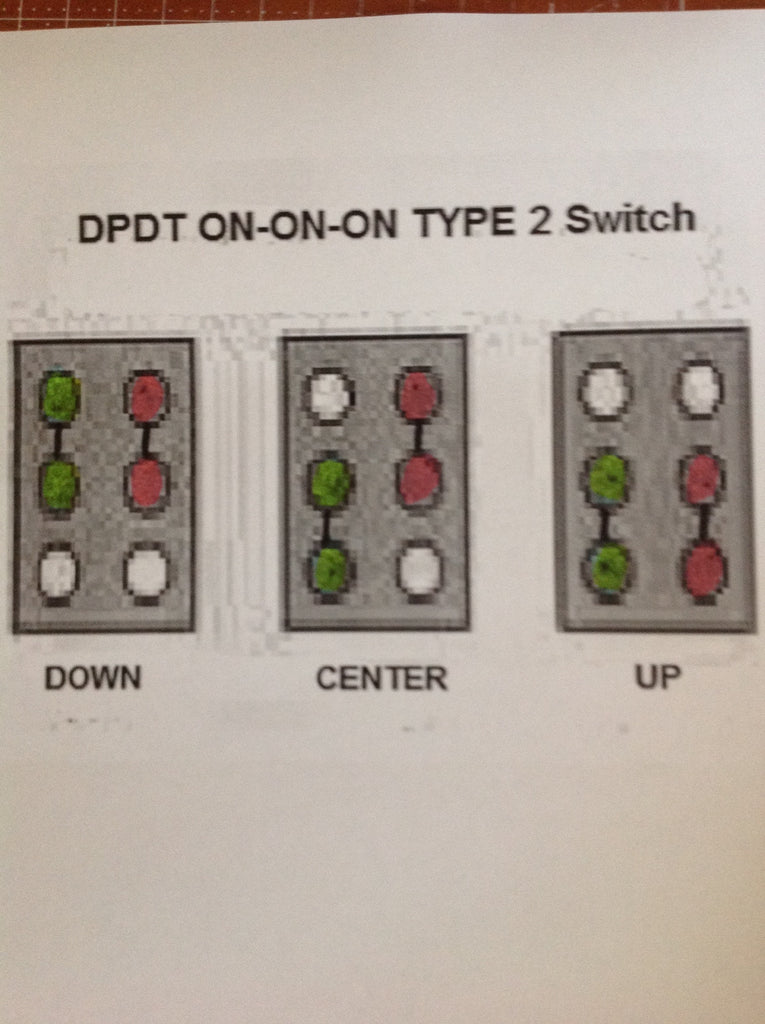 dpdt on on on mini toggle switch for coil splits or phase wiring 2-Way Switch Wiring Diagram