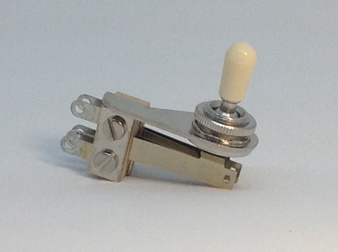 Switchcraft Right Angle 3-way USA Toggle Switch for SG ES Cream Tip