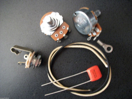 Basic Wiring Kit For P Bass US Spec Pots .047uf 716p Orange Drop Capacitor