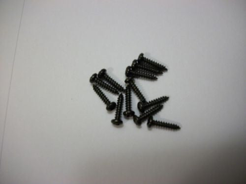 "12 Pack #2 x 3/8"" Black Finish Phillips Tuner Screws for Guitar Machine Heads"