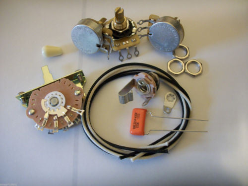Custom Spec Wiring Kit For Stratocaster CTS Oak Switchcraft .022uf Sprague 225P