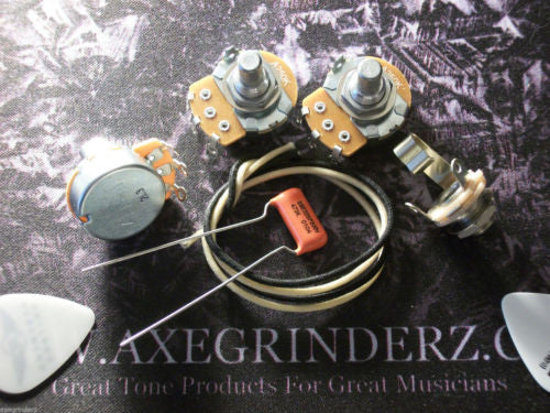 Basic Wiring Kit For J Bass US Spec Pots .047uf Sprague Orange Drop Capacitor