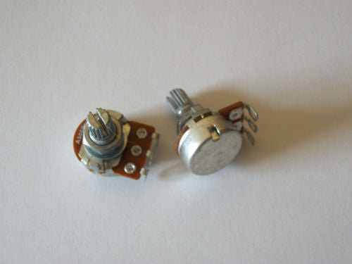 2 Mini Size 500K Audio Taper Metric Import Guitar Potentiometer 16mm Volume Tone
