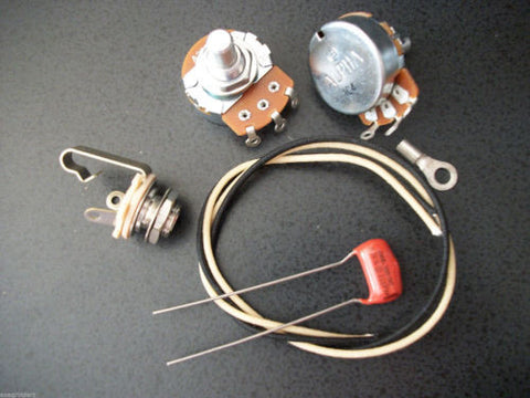 Basic Wiring Kit For P Bass US Spec Pots .068uf 225p NOS Orange Drop Capacitor