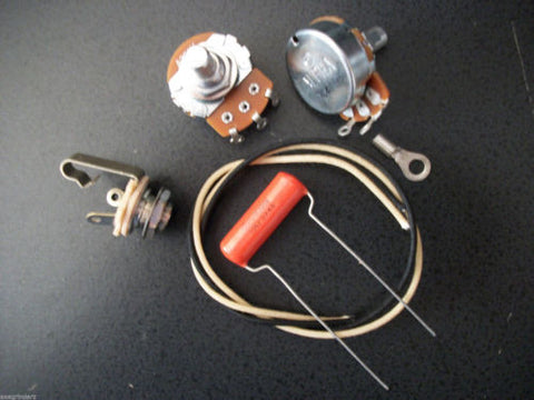 Basic Wiring Kit For P Bass US Spec Pots .1uf 715p SBE Orange Drop Capacitor