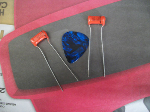 2 x NOS .039uf 100v Sprague 225P ORANGE DROP Guitar or Bass Tone Capacitors