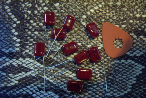 Lot 10 .068uf Chiclet Bass Guitar Tone Capacitors Japan .068 Vintage 70's Stock