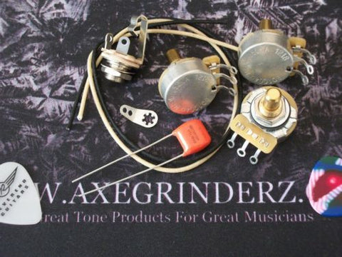 Custom Spec Wiring Kit For Jazz Bass CTS Pots .047uf 716P Orange Drop