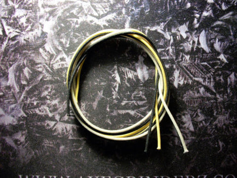 22 awg Handy Pack of Gavitt Vintage Cloth Covered Stranded Tinned Pushback Guitar Wire 22 gauge Black - White - Yellow