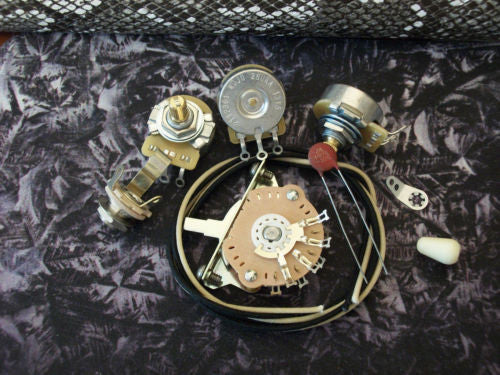 Wiring Kit For Stratocaster Cts Oak Switchcraft  05uf Erie