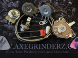 300k Volume Wiring Kit For Stratocaster CTS Oak Switchcraft .047uf Orange Drop