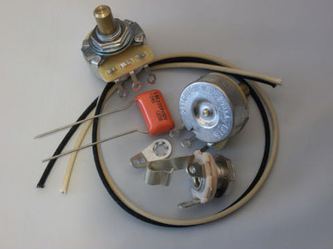 Custom Spec Wiring Kit for P Bass CTS Pots .1uf Sprague 225P Orange Drop
