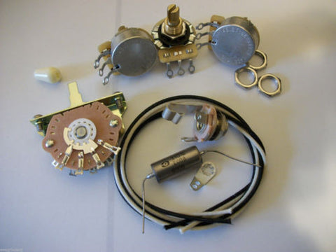 Wiring Kit For Stratocaster CTS Oak Switchcraft .047uf K40Y Soviet PIO Cap