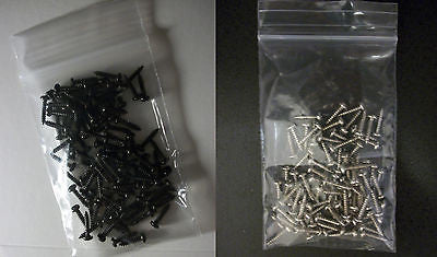 "25 each #2 x 3/8"" Tuner Screws Black / Chrome Phillips for Guitar Machine Heads"