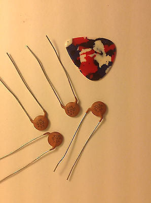 4 Pack New Old Stock .02uf 50V AE Ceramic Guitar Tone Capacitors Vintage Tone