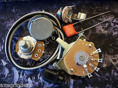 Quality Wiring Kit for Telecaster US Spec Parts .047uf Orange Drop Cloth Wire