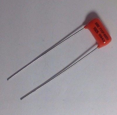 .001uf 600v Sprague ORANGE DROP 715P Polypropylene Guitar Treble Bleed Capacitor