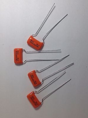 4 Pack of .047uf 200v CDE/SBE ORANGE DROP 225P Film Foil Guitar Tone Capacitors
