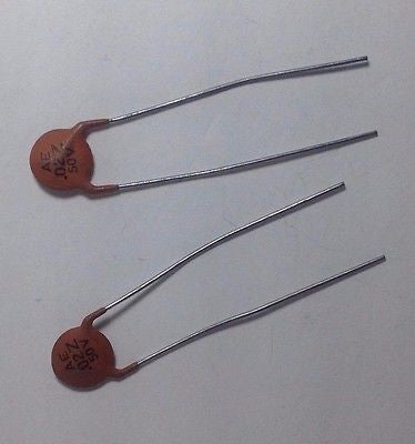 2 Pack New Old Stock .02uf 50V AE Ceramic Guitar Tone Capacitors Vintage Tone