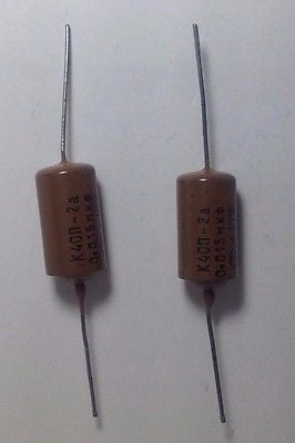 2 Pack NOS .015uf 400v K40N Soviet Paper In Oil Guitar Tone Upgrade Capacitor