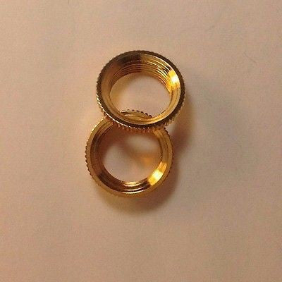 2 Fine Shouldered Deep Toggle Switch Nut Gold For Switchcraft Switch Made in USA