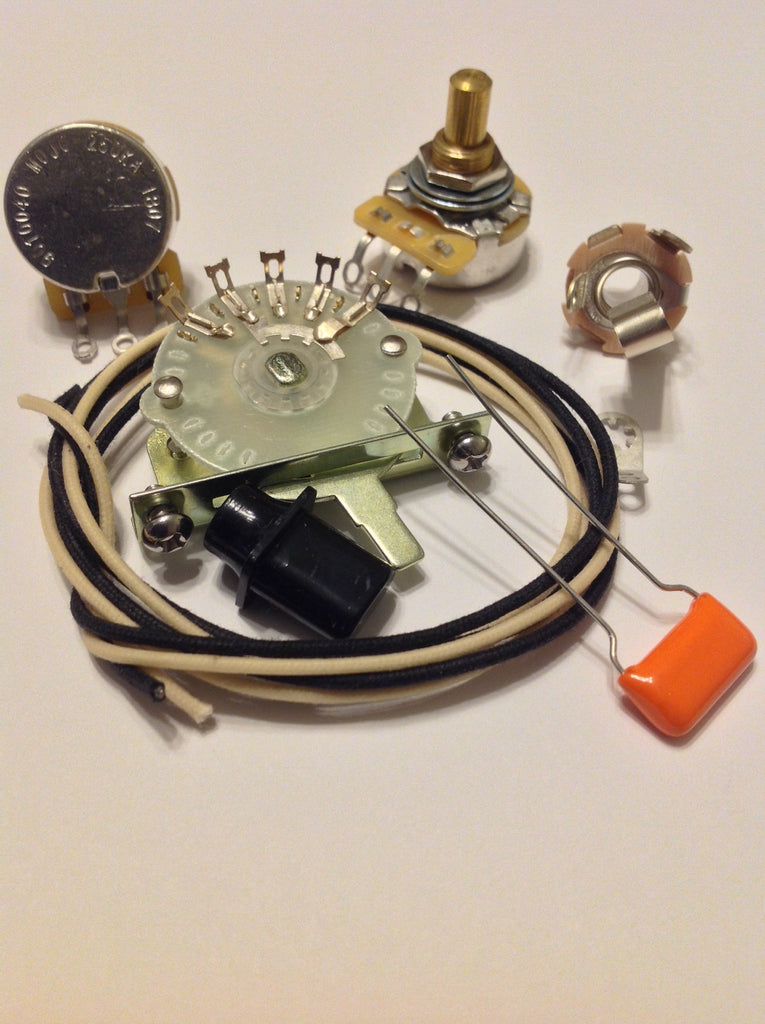 Custom 4 way Wiring Kit for Telecaster CTS Oak Switchcraft .022 225P Orange Drop
