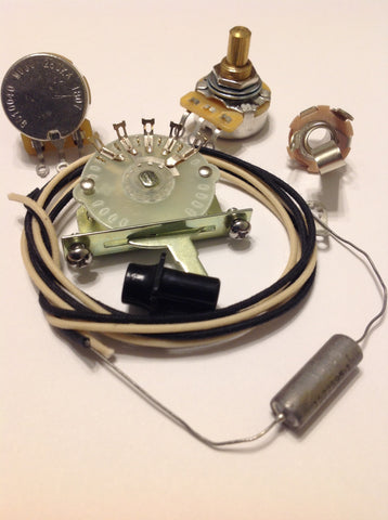 4 way Wiring Kit for Telecaster CTS Oak Switchcraft .047 C-D US Paper In Oil Cap