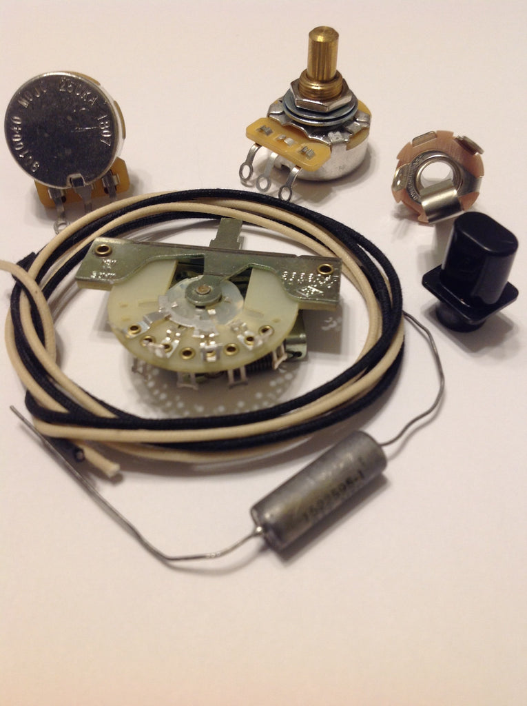 Custom Spec Wiring Kit for Telecaster CTS CRL Switchcraft .047 CD Paper In Oil