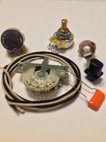 Custom Spec Wiring Kit for Telecaster CTS CRL Switchcraft .022 225P Orange Drop
