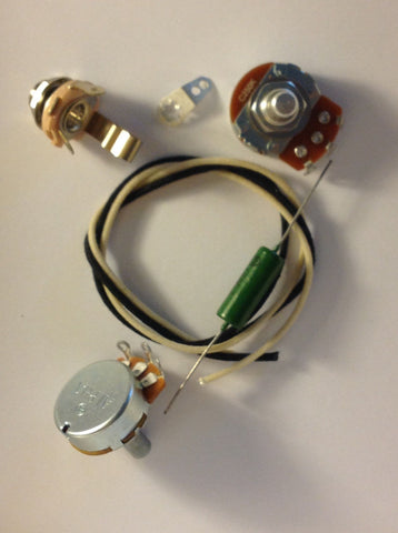 Lefty Wiring Harness Kit For P Bass US Spec Pots .1uf Soviet PIO Capacitor